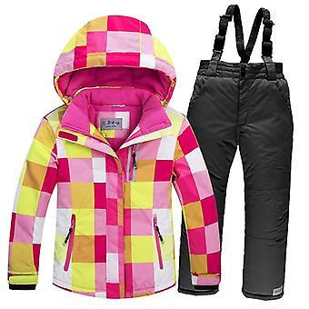 Windproof Warm Fleece Snow Jacket And Pants Set
