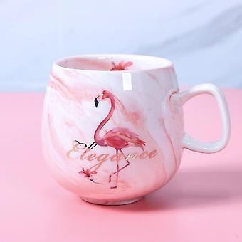 Flamingo Cafea Cani ceramice Travel Cup Cute Cat Foot Ins 72 * 85mm 350ml
