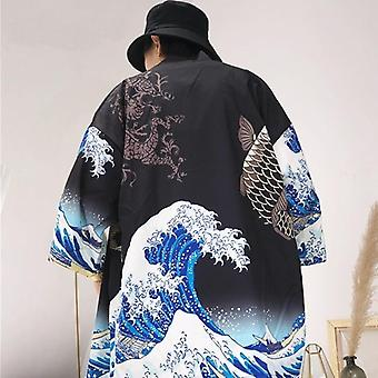 Kimono Cardigan Mænd japanske Obi