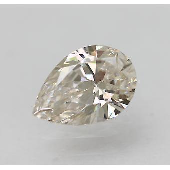 Sertifioitu 0,46 karat I VS1 päärynän muoto parannettu luonnollinen timantti 6,55x4,48mm 2VG