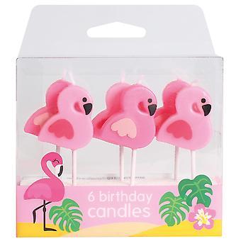 Flamingo Kynttilät - 6 kpl