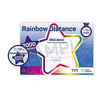 ASA zwemmen Engeland Rainbow afstand zwemmen Award - 2000m