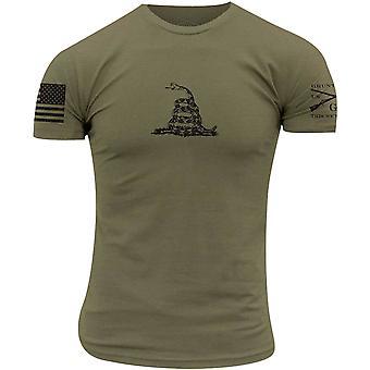 Grunt Stil Gadsden Grunnleggende T-skjorte - Militær grønn
