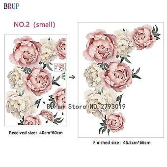 Large Pink Peony Flower Wall Sticker