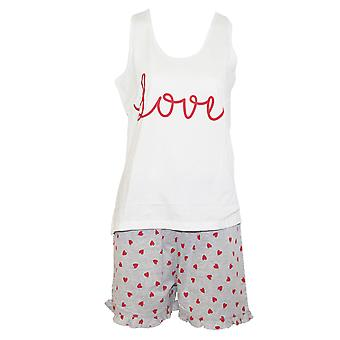 Forever Dreaming Womens/Ladies Love Short Pyjama Set