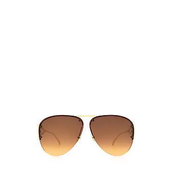 Bottega Veneta BV1065S óculos de sol unissex dourados