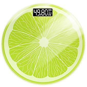 lemon Pattern Bathroom Scale USB Electronic