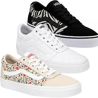 Vans Womens Ward Low Rise Canvas Trainers Sneakers Shoes