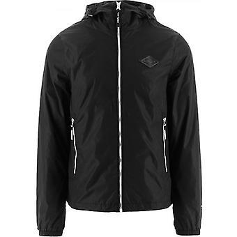 Replay Black Recycled Nylon Hooded Jacket Jacket