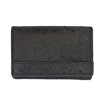 Arrigo 02B-337BP-Zwrt, Leather Wallet. Woman, Black, Medium