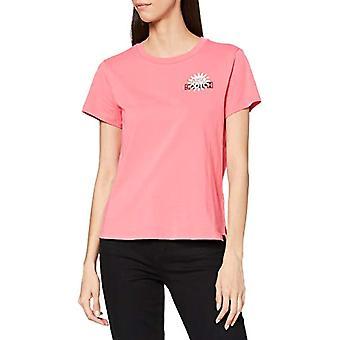 Scotch &Soda Camiseta mit Rundhalsausschnitt und Logo, 3930 Pink Smoothie, XL Woman