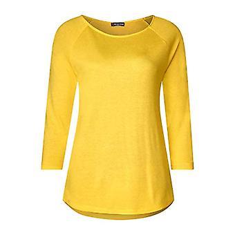 Street One 313955 Bathia T-Shirt, Yellow (Creamy Lemon 21848), 42 (Size Manufacturer: 36) Woman