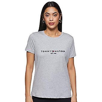 Tommy Hilfiger Essential Organic Cotton Tee W T-shirt, Grey (Light Grey Heather PYT), 36 (One Size: XX-Small) Woman