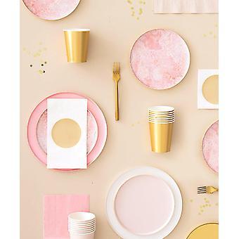 Oh Happy Day Rose Quartz Plates (small)