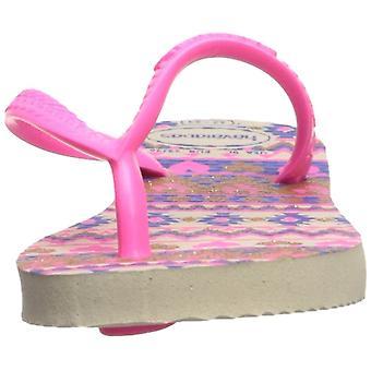 Havaianas Kids' Slim mote Sandal Beige/rosa