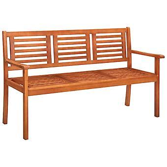 vidaXL 3 sièges banc de jardin avec 150 cm bois massif Eucalyptus