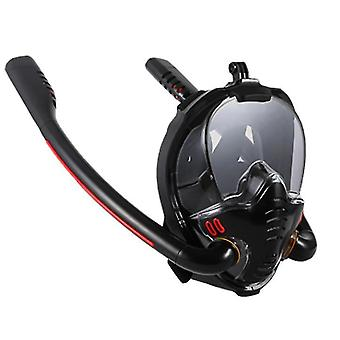 M black 180 degree panoramic hd view snorkeling mask x1321