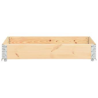vidaXL Pallet top frame 80×120 cm pine solid wood
