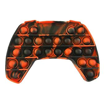 Stuff Certified® Pop It - Washed Fidget Anti Stress Toy Bubble Toy Silicone Controller Black-Orange