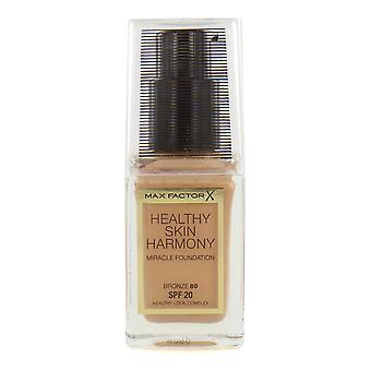 Max Factor Healthy Skin Harmony Miracle Foundation SPF20 30ml Brons #80