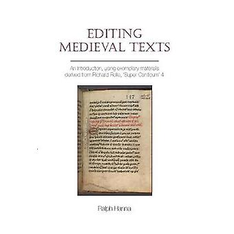 Editing Medieval Texts Exeter Medieval Texts and Studies