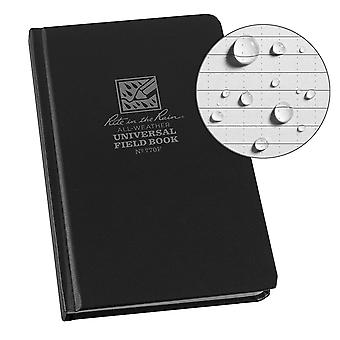 Rite In The Rain Universal Fabrikoid Side Bound Book 4.75 x 7.5 inches - Black