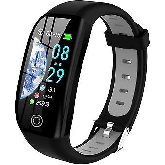 Inteligentny zegarek, wodoodporny inteligentny ekran smart bransoletka IP68 z powiadomieniem alarmu snu krokomierza EKG, czarny