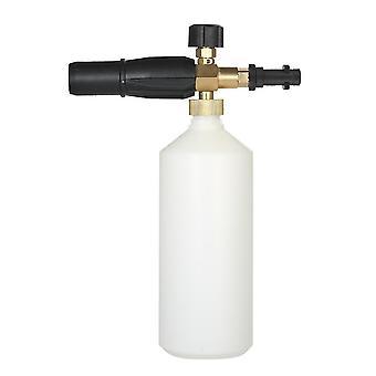 L'arrosage réglable de lavage de voiture peut 1l avec le hdpe et la bouteille de cône de jet de lave-glace de mousse de savon en laiton