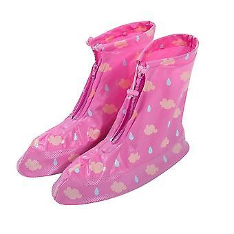 Rózsaszín pvc középső cső felnőtt eső csizma terjed homi2609