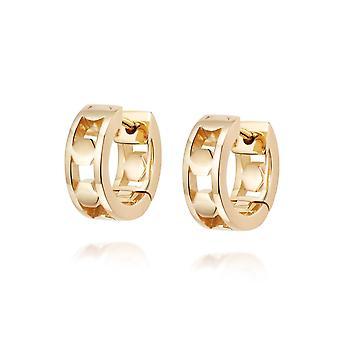 Daisy Stevie Huggie Hoop 18ct Gold Plate Earrings HUG09_GP