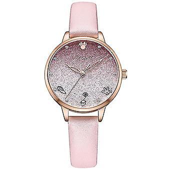 Dívka vodotěsná studentka střední školy gradient růžové dívčí hodinky (Růžová)