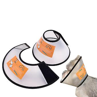 Adjustable Pet Cone Collar For Cats Puppy Rabbit, Pet Neck Cover Protect(M)