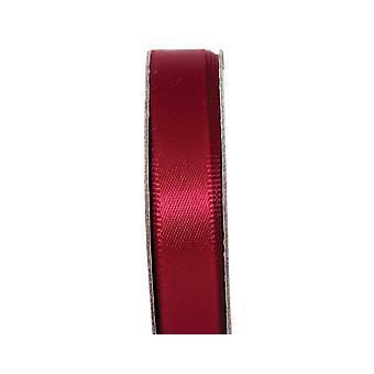 LAST FEW - 3m Cabernet Red 10mm Wide Satin Craft Ribbon