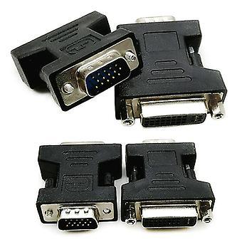 2-Pack DVI-I Feminin Analog (24 +5) la VGA Male (15-pini) Adaptor Conector Dual Link