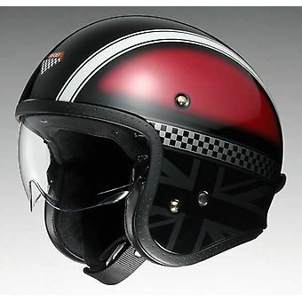 Shoei J.O. Hawker TC1* Öppen ansikte Motorcykel Hjälm Röd