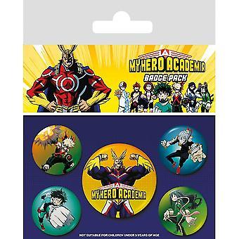 My Hero Academia Characters Badge Set (Confezione da 5)