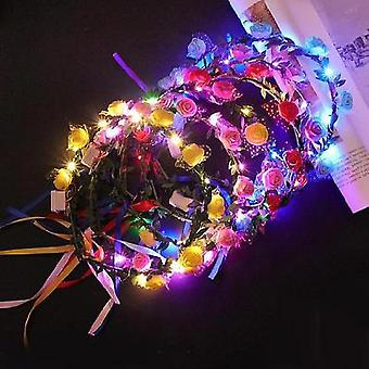 12 Pcs Led Light Up Bracelets Glow In The Dark Party Supplies(Style6)
