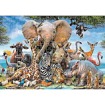 1000pcs Puzzles For Adults Teens Jigsaw Fun Large Game Challenge Gift(Animals World)