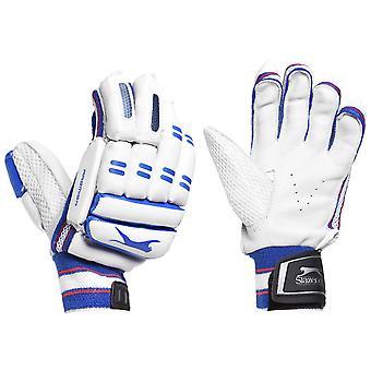 Slazenger Premier Batting Gloves Juniors Cricket Leather Palm Sweatband
