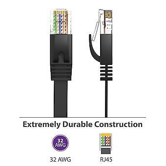 25Cm 3ft1.5ft 1m 2m 3m 10ft 5m 10m 15m 20m 30m cable cat6 flat utp ethernet network cable rj45 patch lan cable black white color