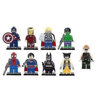 9 Pcs Marvel Avengers Super Hero Comic Mini Figures Dc Minifigure Gift Fits Lego