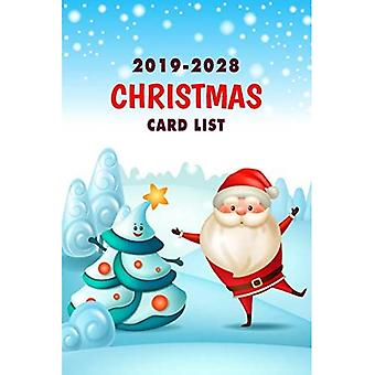 Christmas Card List: Greeting card organizer book Ten Year Address Book� Organizer with A-Z Tab Send and Receive Greeting Cards Keeper Holiday Card Address & Mailings Tracker