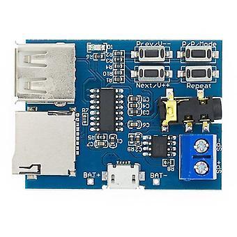 1Pcs tf kaart u schijf mp3 formaat decoder board module versterker decoderen audiospeler