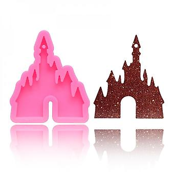 Handmade Dolphin Butterfly Mom Castle Ribbon Bow Keychain Pendant Mold Resin Casting Silicone Molds Jewelry Making Tools