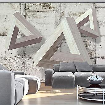 Papel de parede 3D - Trio Cinza