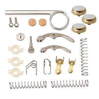 Guides de valve de trompette avec clé d'eau de broche et 3x valve de capuchons de trompette dorée