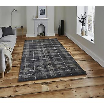 Wellness Dark Grey  Rectangle Rugs Plain/Nearly Plain Rugs