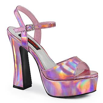 Demonia Women's Shoes DOLLY-09 Hologramme rose