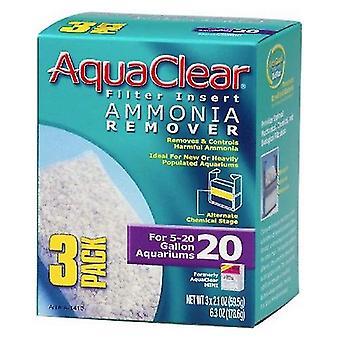 Aquaclear الأمونيا مزيل مرشح إدراج - حجم 20 - 3 العد