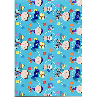 Children's Assorted Gift Wrap Sheets 50-70cm - Boys &  Dogs